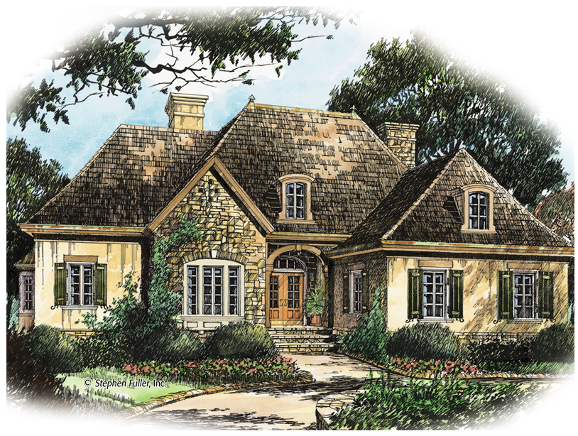 Visalia Hill French Country House French Country House Plans Country Style House Plans