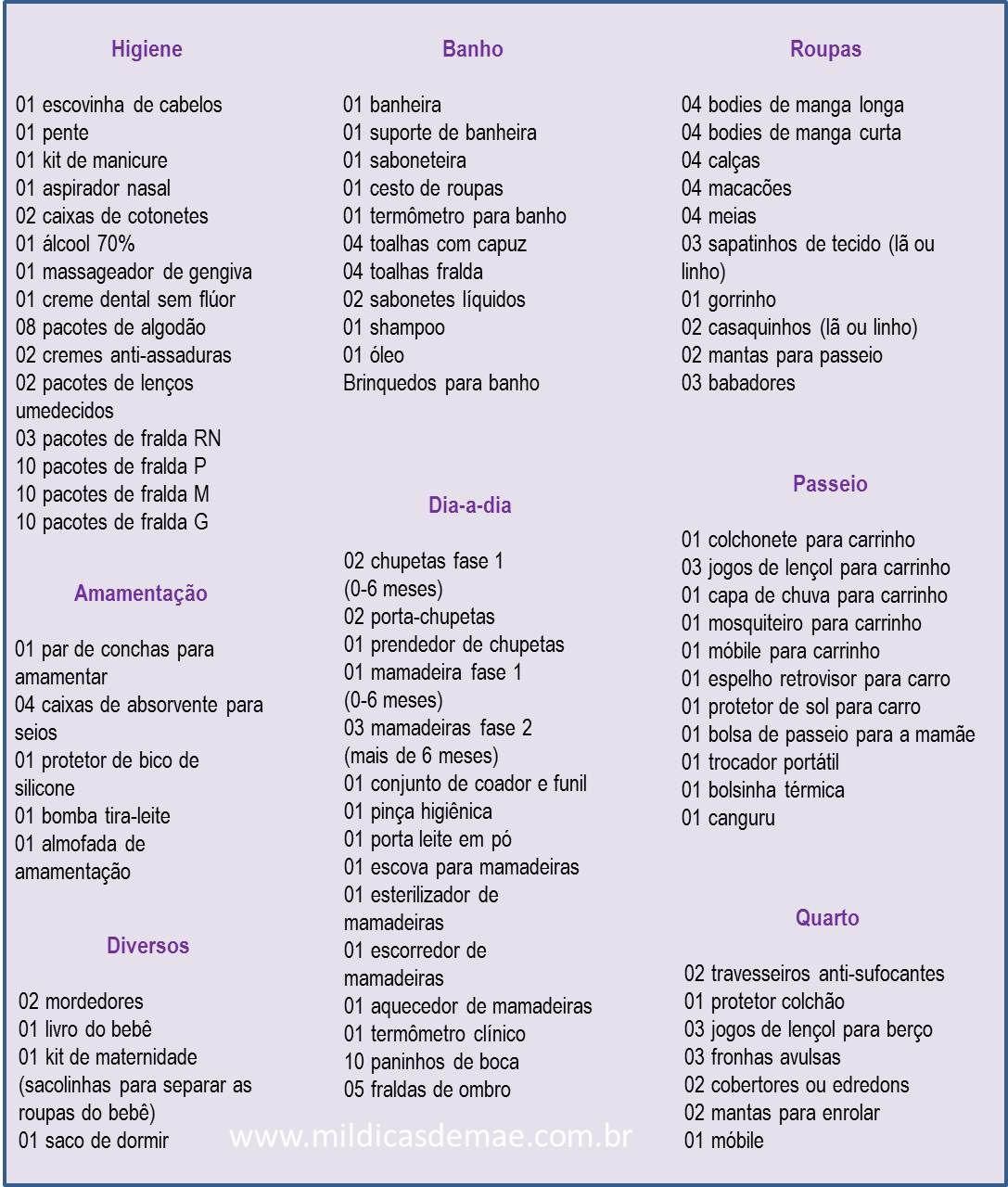 Lista De Ch De Beb Completa E Atualizada Pinterest Bebe