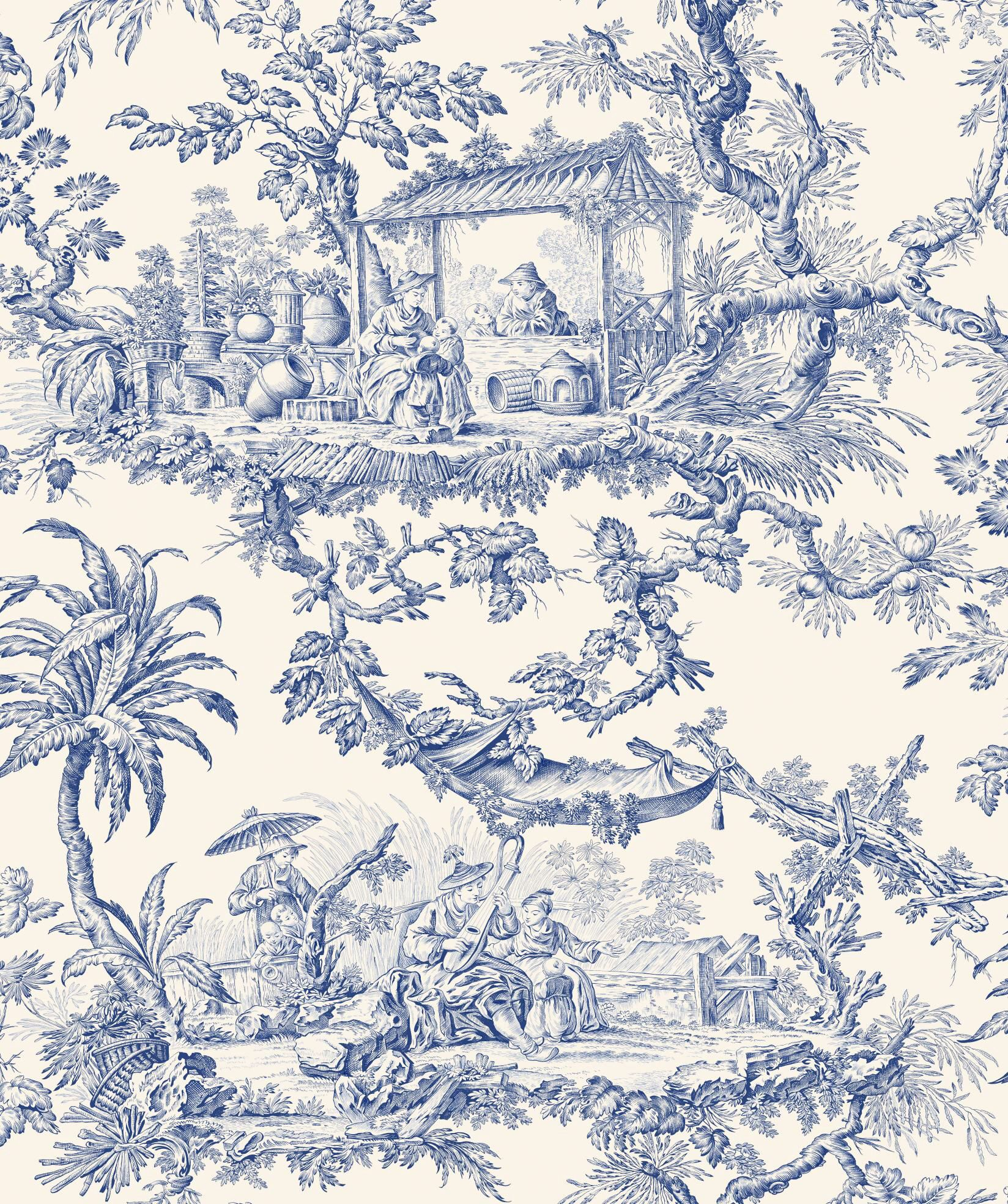 toile de jouy repeat pinterest toile de jouy toiles et bleu. Black Bedroom Furniture Sets. Home Design Ideas