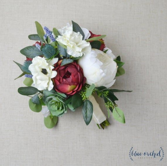 Wedding Bouquet, Bridal Bouquet, Boho Bouquet, Fall Bouquet, Rustic Bouquet, Peony Bouquet, Wedding Flowers, Greenery, Eucalyptus, Red #fantasticweddingbouquets