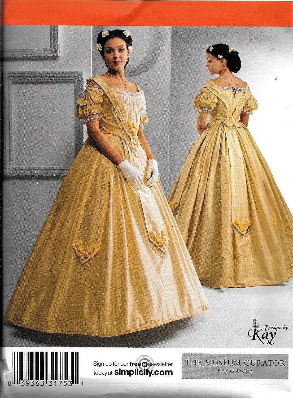 Simplicity 2881 Civil War Dress UNCUT Costume Sewing Pattern ...