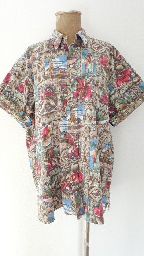 Mele Kalikimaka Shirt Size 2XLarge Reyn Spooner Hawaiian Aloha Reverse Print #ReynSpooner #Hawaiian