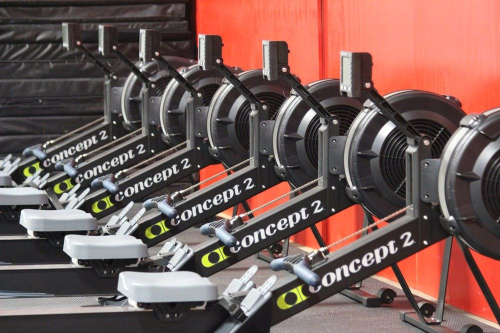 The Concept 2 Rower Garage Gym | GYM | Crossfit home gym