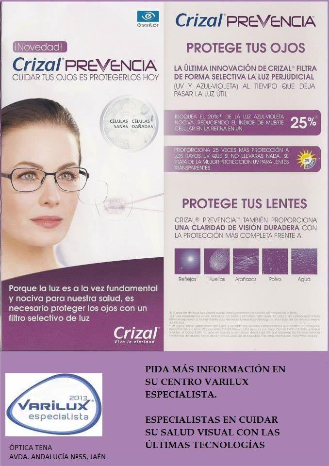 6593601587d3b Nuevas lentes Crizal Prevencia