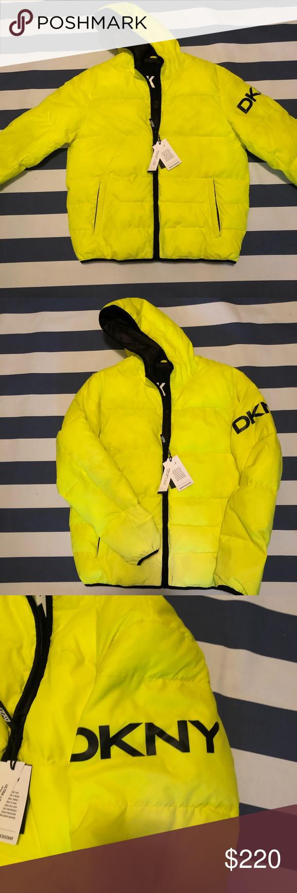 Men S Dkny Neon Water Resistant Puffer Coat L Brand New Men S Dkny Neon Water Resistant Puffer Coat Size Large Dkny Jackets C Puffer Coat Dkny Clothes Design [ 1740 x 580 Pixel ]