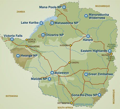 Great Zimbabwe Map Africa.Zimbabwe The Republic Of Zimbabwe Is A Landlocked Country