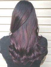 plum hair balayage ombré purple red mahogany hair color fall 2017 curly hair st