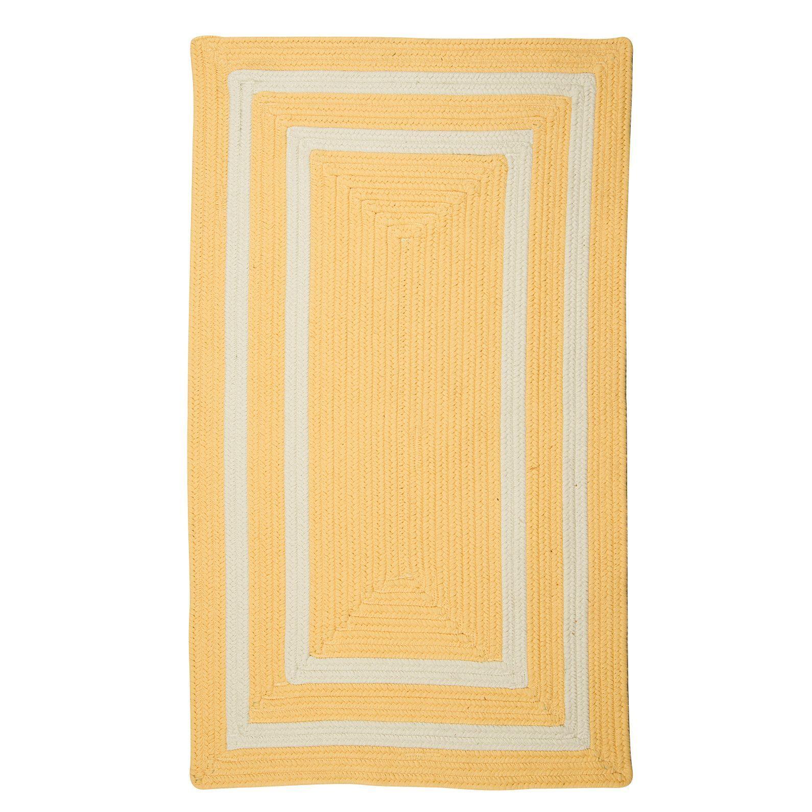 Keats Hand-Woven Outdoor Yellow Area Rug