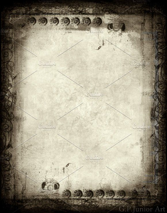 Grunge Textured Retro Style Frame Graphics High Resolution Borderbackground Or Texture For Achieving That Distressed Gra By GPJ