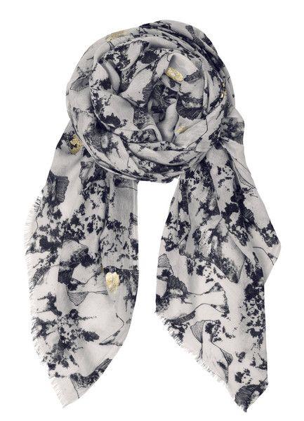 Becksondergaard Settsu Silk/Wool Blend Scarf in Nutmeg White at Supernomad