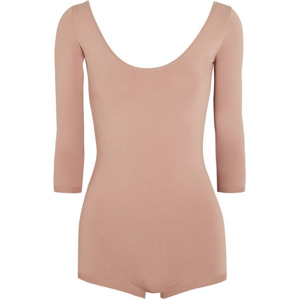 Valentino Stretch-jersey bodysuit ($1,490) ❤ liked on Polyvore featuring intimates, shapewear and blush