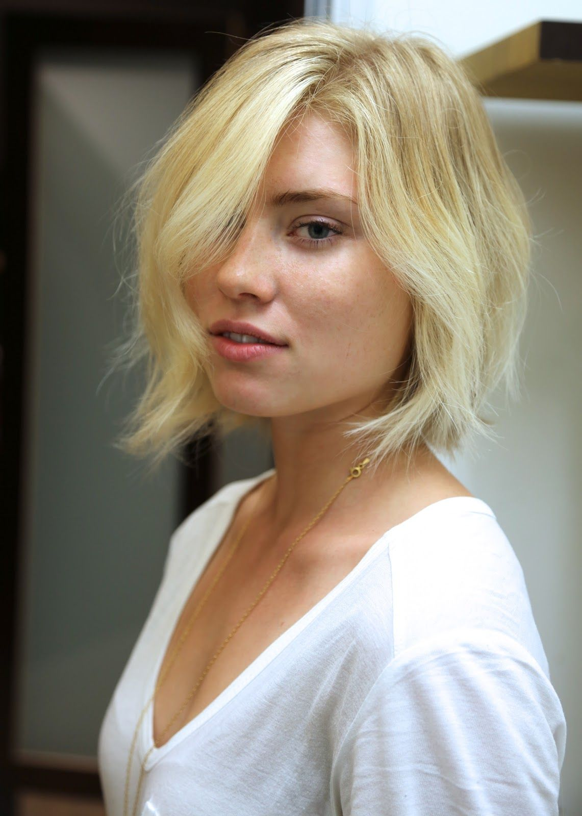 Like the natural wave in this bob coiffures pinterest textured