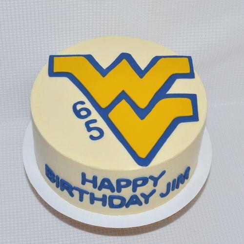 Incredible West Virginia Birthday Cake By Freshbakedva Com Birthday Cake Personalised Birthday Cards Beptaeletsinfo