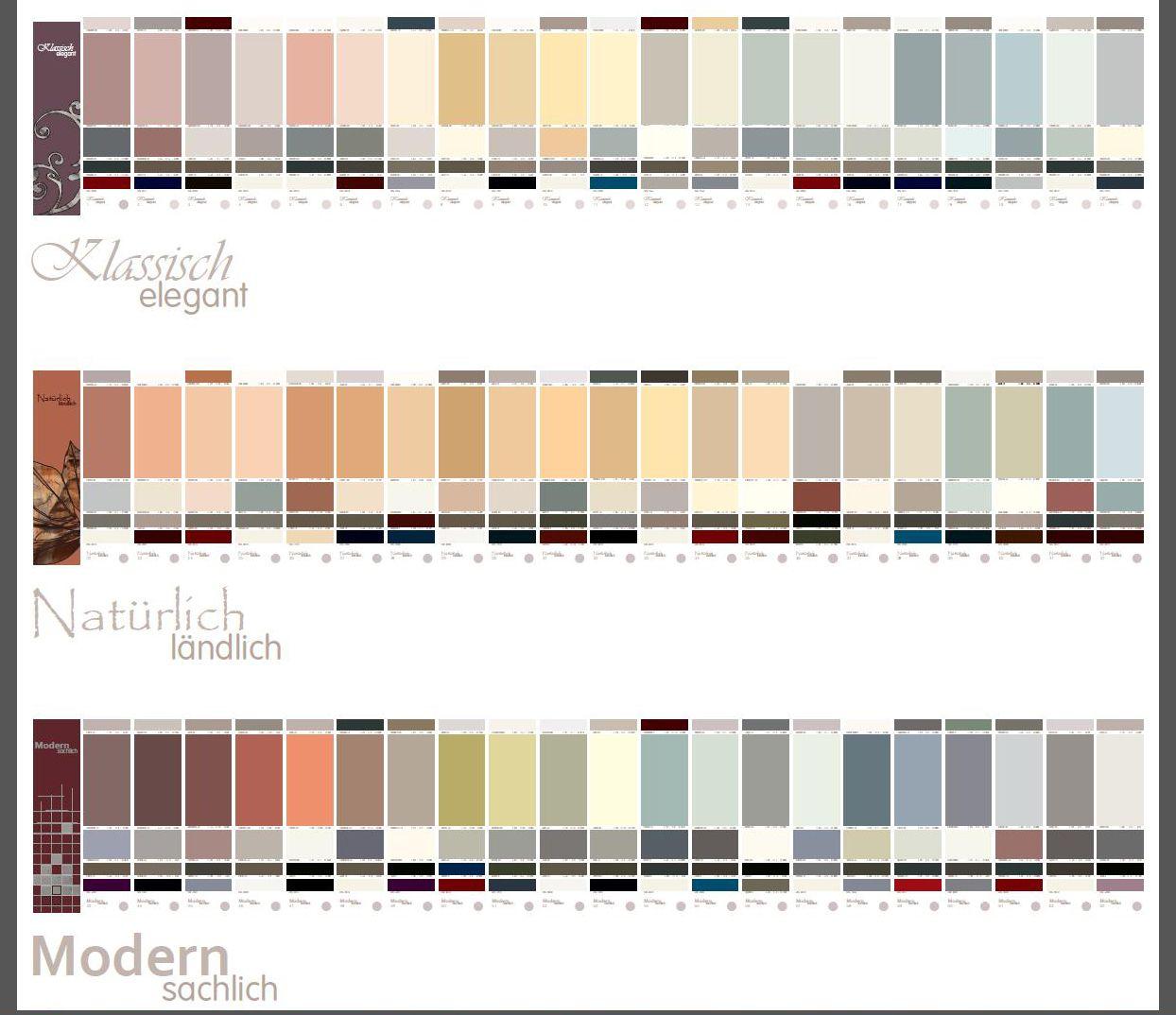 Fassadenfarben farbmuster  Die drei Harmoniegruppen des Caparol-Gestaltungsfächers Fassade A1 ...