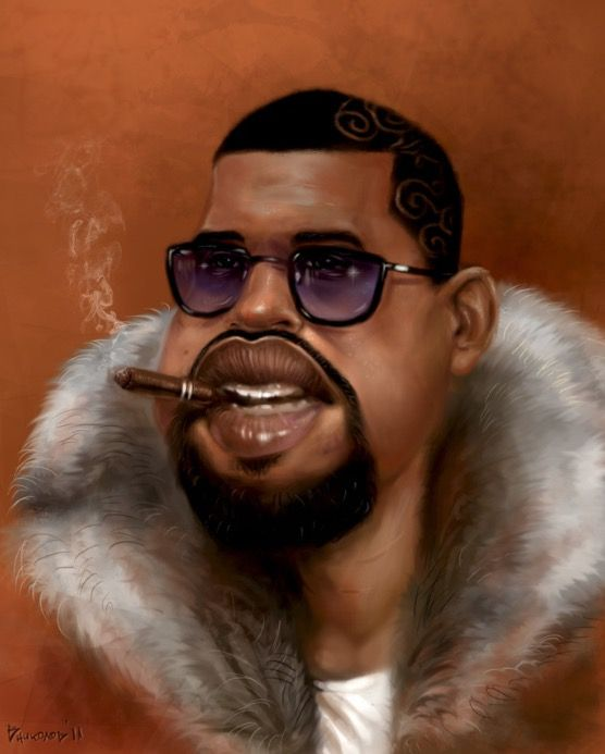 Kanye West Caricature Celebrity Caricatures Musician