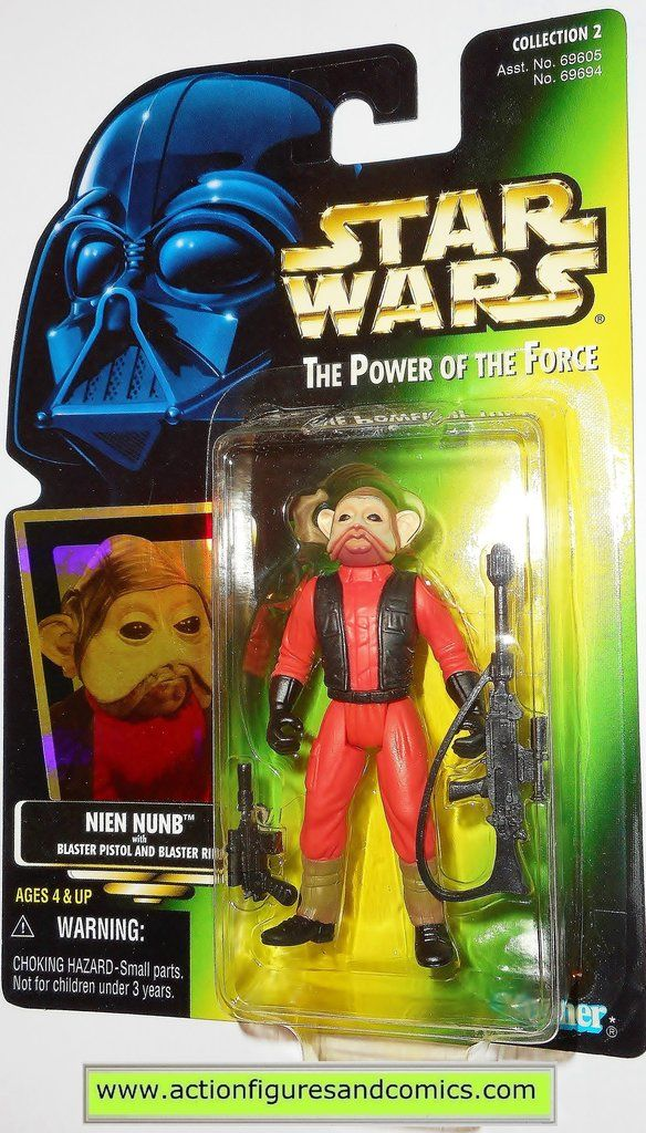 star wars action figures NIEN NUNB power of the force 1997 hasbro toys moc mip mib