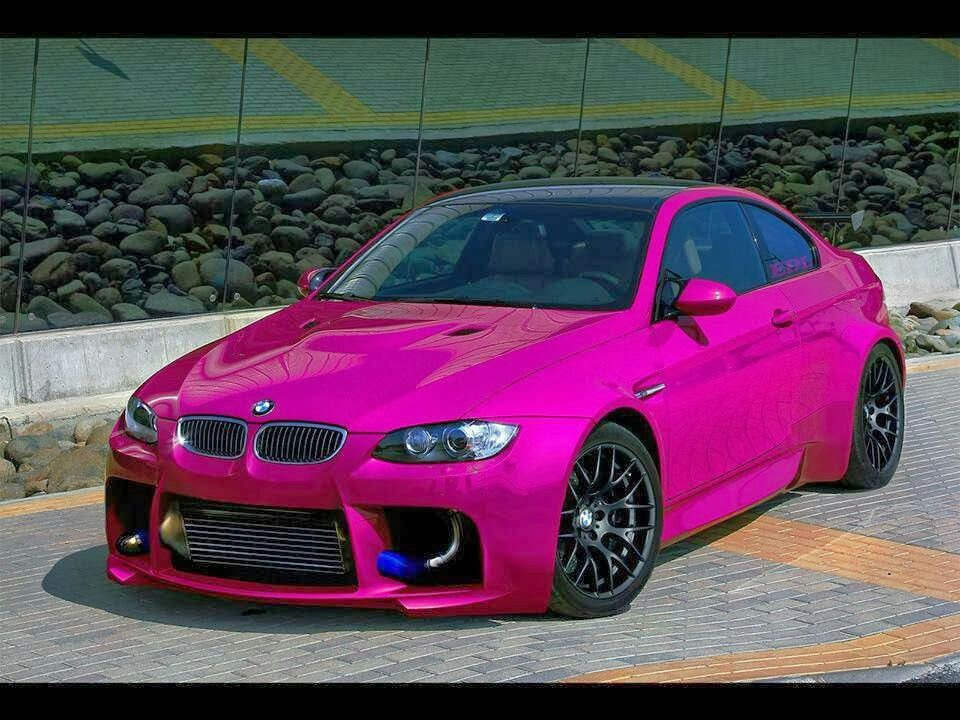 BMW E92 M3 Widebody Hot Pink