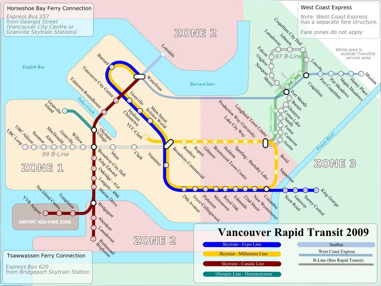 vancouver transit maps Pinterest
