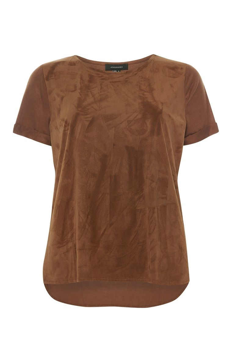01ae3c8a12b3d Primark - Braunes T-Shirt in Wildleder-Optik (8€) | Primark ...
