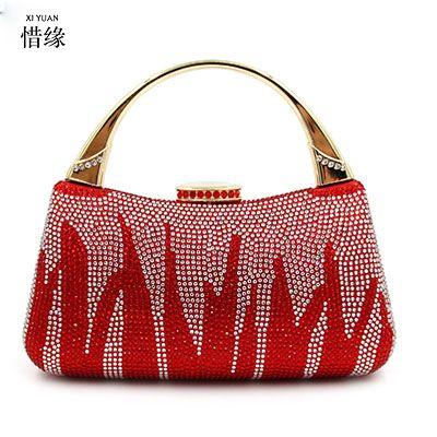 45043a2b32 XIYUAN BRAND luxury European and American Ladies Clutch Handbag Women  Evening Bag Bridal Wedding Party Women