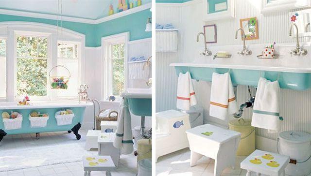 Salle de bains familiale déco Les salles de bain, La salle et - enlever carrelage salle de bain