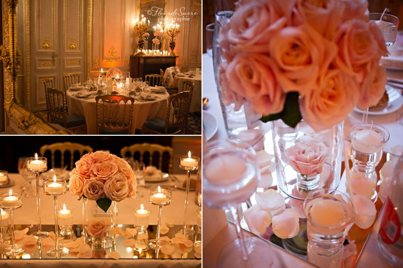 Romantique wedding reception decorations de wedding for Table romantique