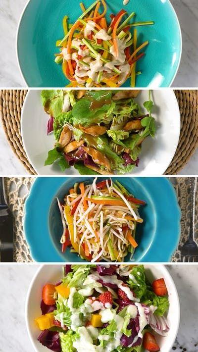 4 Tipos de Molho para Salada ~ Receita