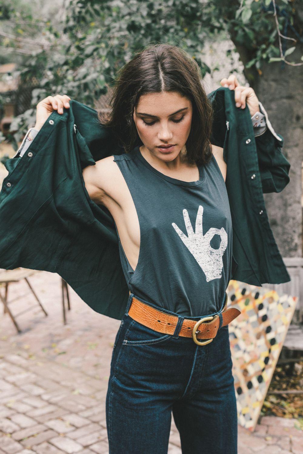 Harte Nippel Unter Deinem T Shirt Outfit In 2018 Pinterest Sonne Anne Sf8008 Camel Premium Lady Comfort Casual Leather Sandal