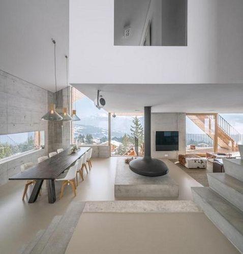 Interior Design Vs Architecture Reddit: Modern Swiss Chalet With Views Of The Matterhorn Via