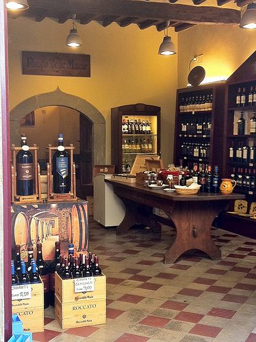 Wine Shop in Castellina in Chianti, Tuscany, Italy