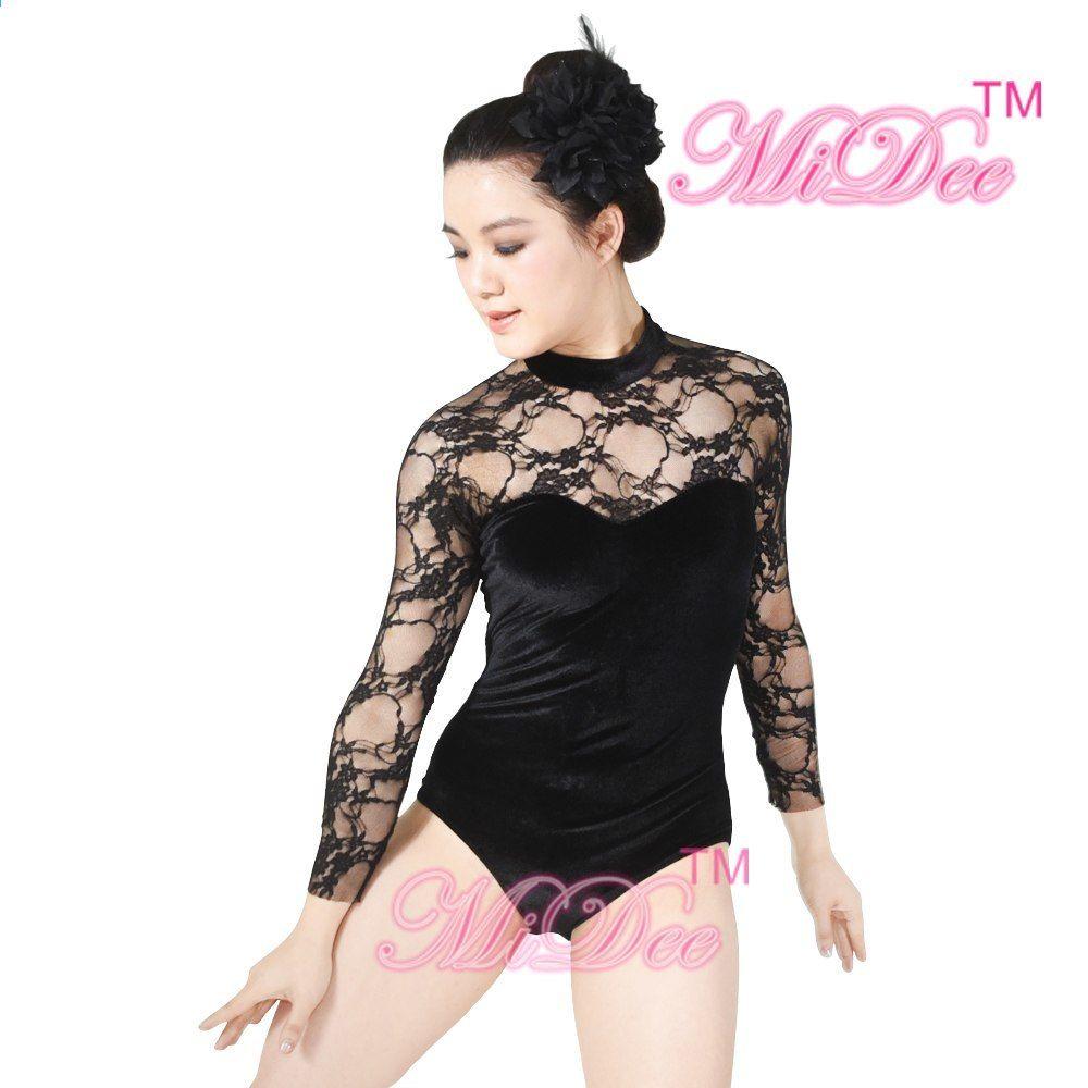 Krajka Taneční kostýmní kostým Taneční kostým Moderní taneční oblečení  Gymnastická soutěž Kostýmy pro dívky f6aa926431