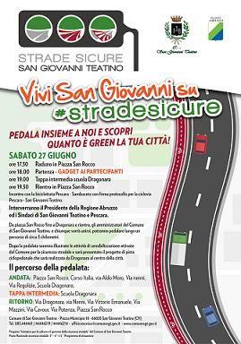 Gli amministratori di San Giovanni Teatino sabato 27 giugno in bicicletta per la sicurezza stradale