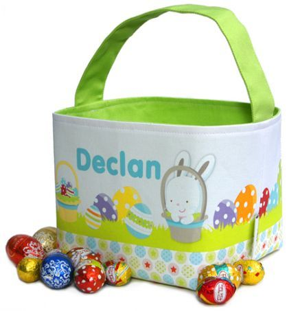 Easter egg basket personalised kids products pinterest personalised easter baskets for kids christmas easter easter bags baskets easter egg basket personalised baby gifts personalised gifts for negle Choice Image