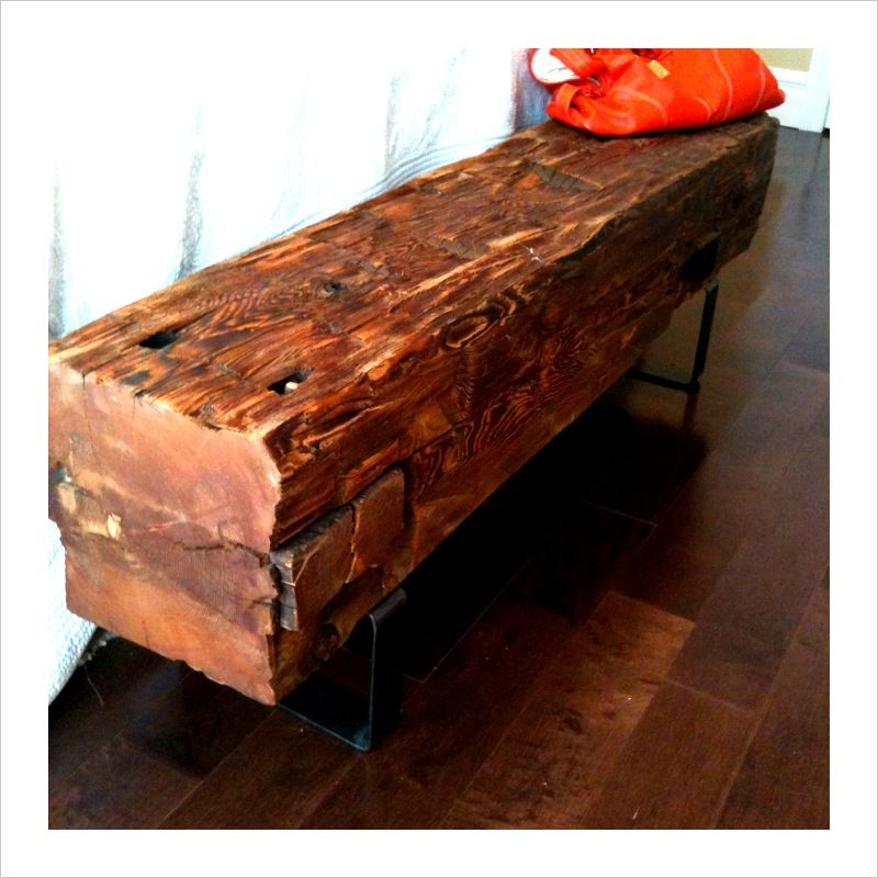 Reclaimed Barn Beam Bench Barn Wood Projects Unusual