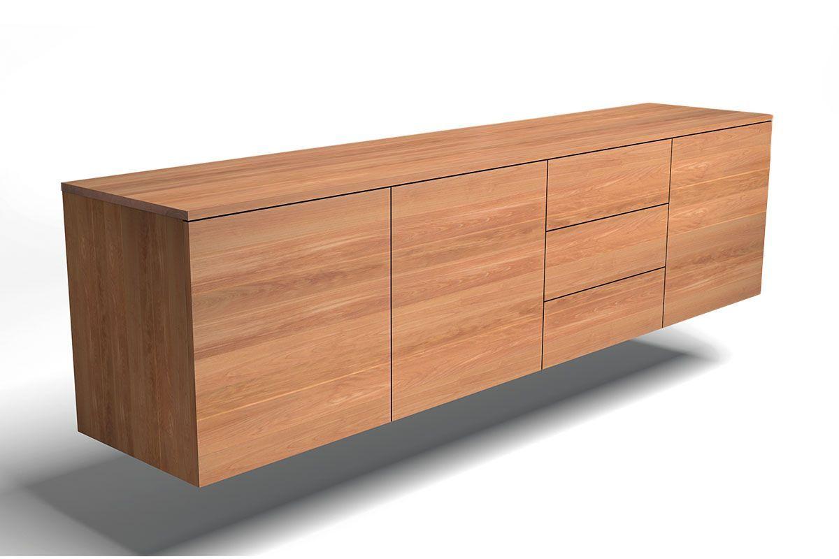 Lowboard Hängend In Buche Massivholz Nach Maß Holzpiloten Lowboard Hängend Sideboard Hängend Lowboard Eiche