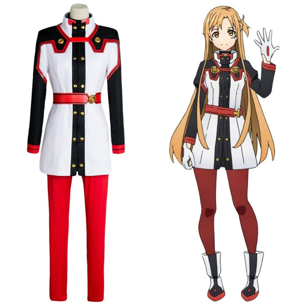 Cosplay Costume Set Halloween Womens girl Anime Sword Art Online SAO Asuna 2017