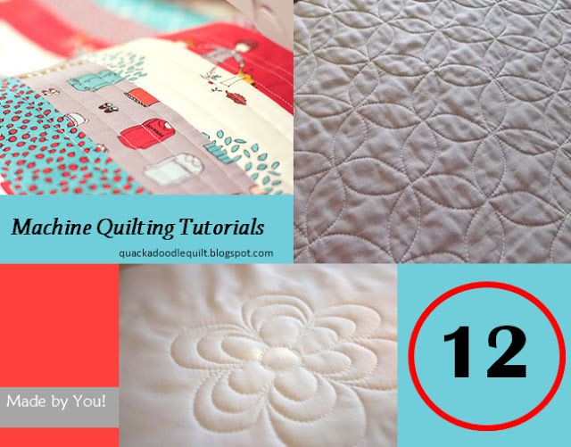 12 Great Machine Quilting Tutorials For Those Without Long