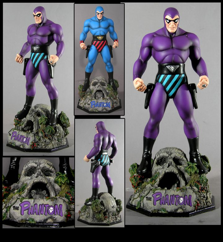 """#NEW 12/"""" Blue Suit Variant Statue Ikon THE PHANTOM: The Ghost Who Walks"""
