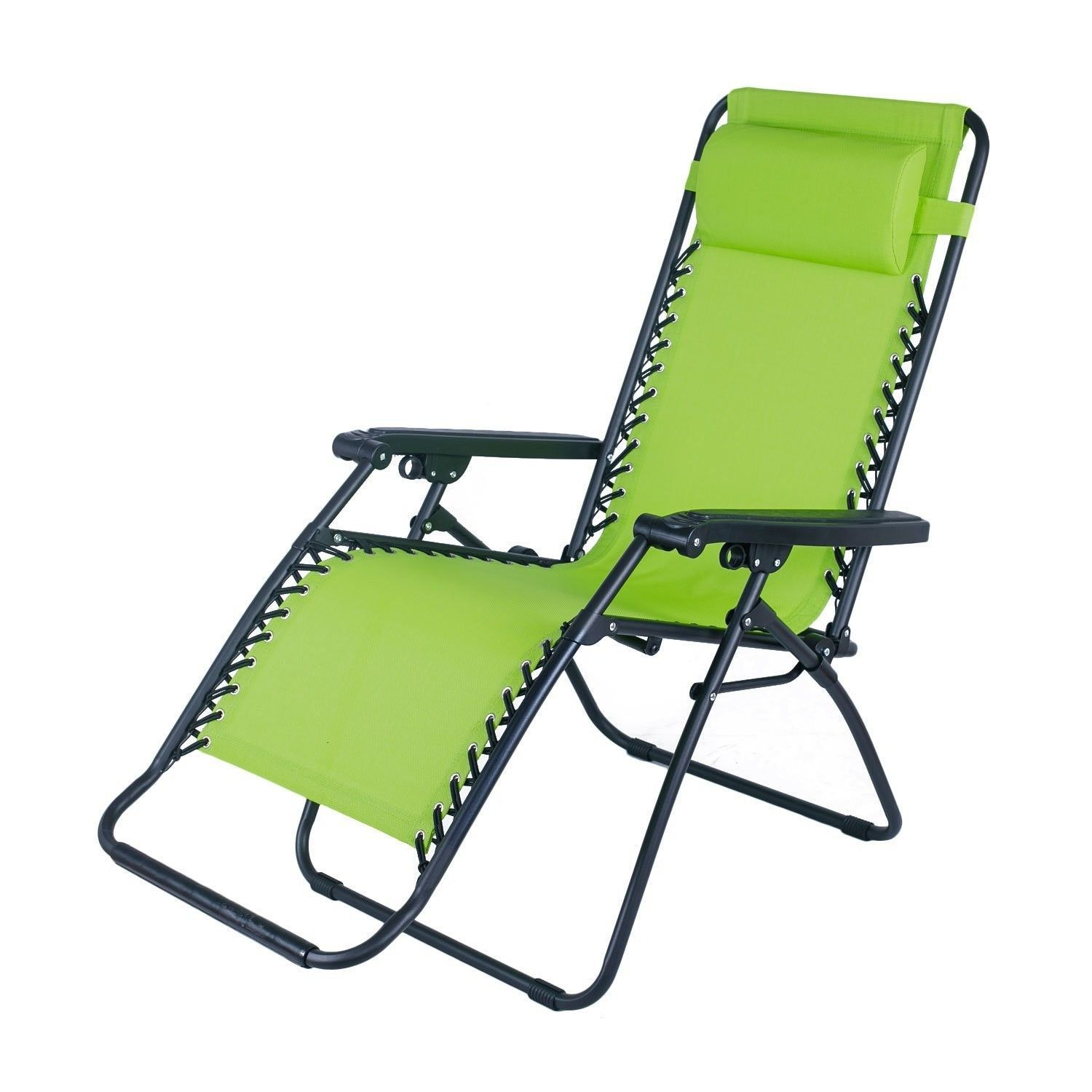 Outdoor Folding and Reclining Zero Gravity Chair Lounge