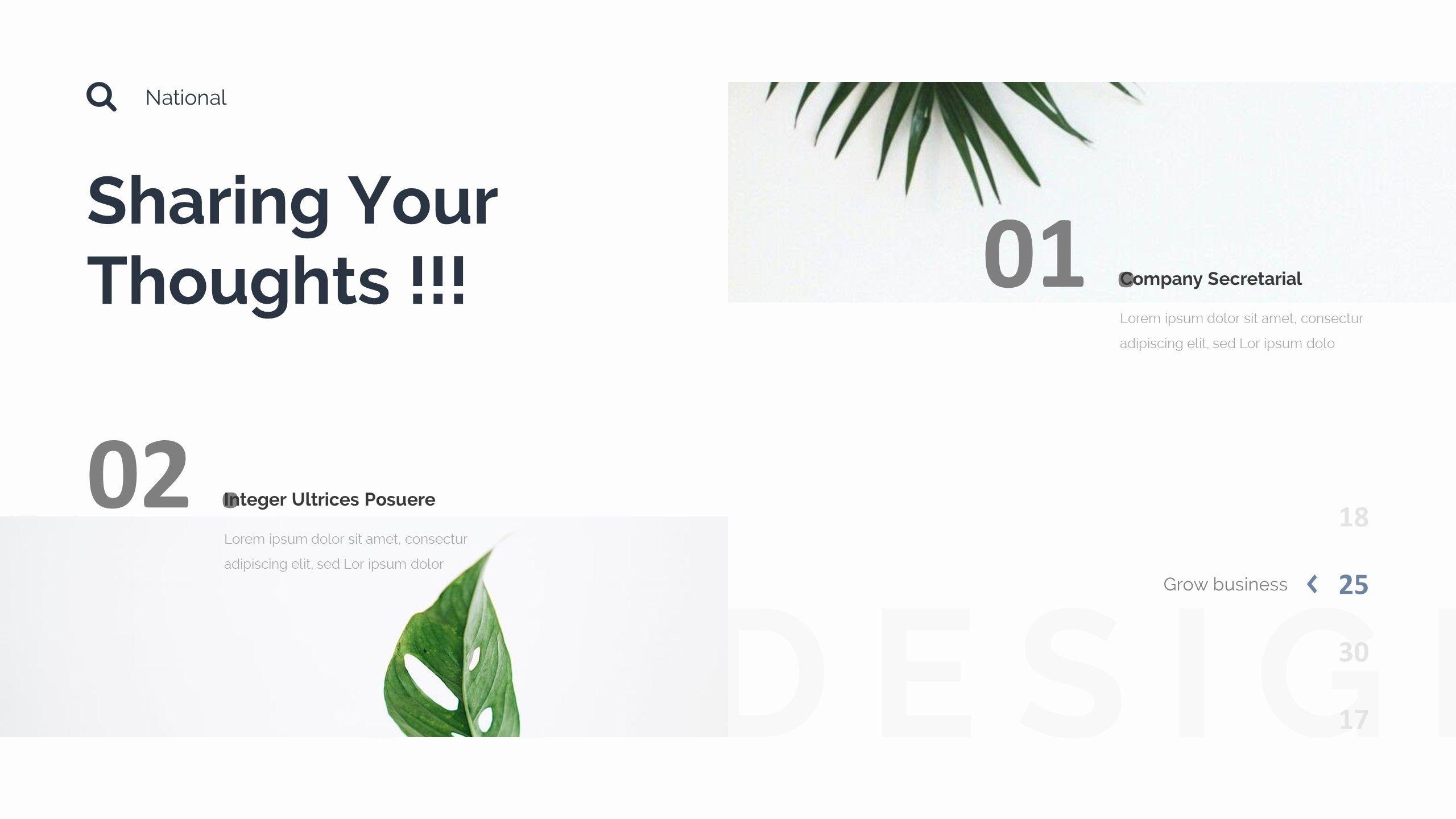 Monsta Minimal Design Google Slide Template #Design, #