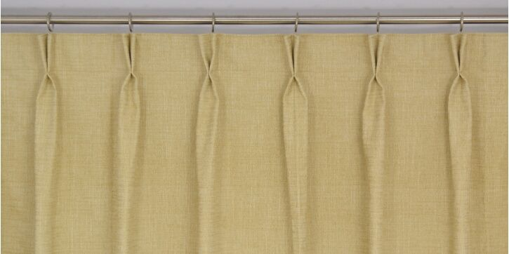Double Pinch Pleat Heading Type  AMERIQ  Curtains