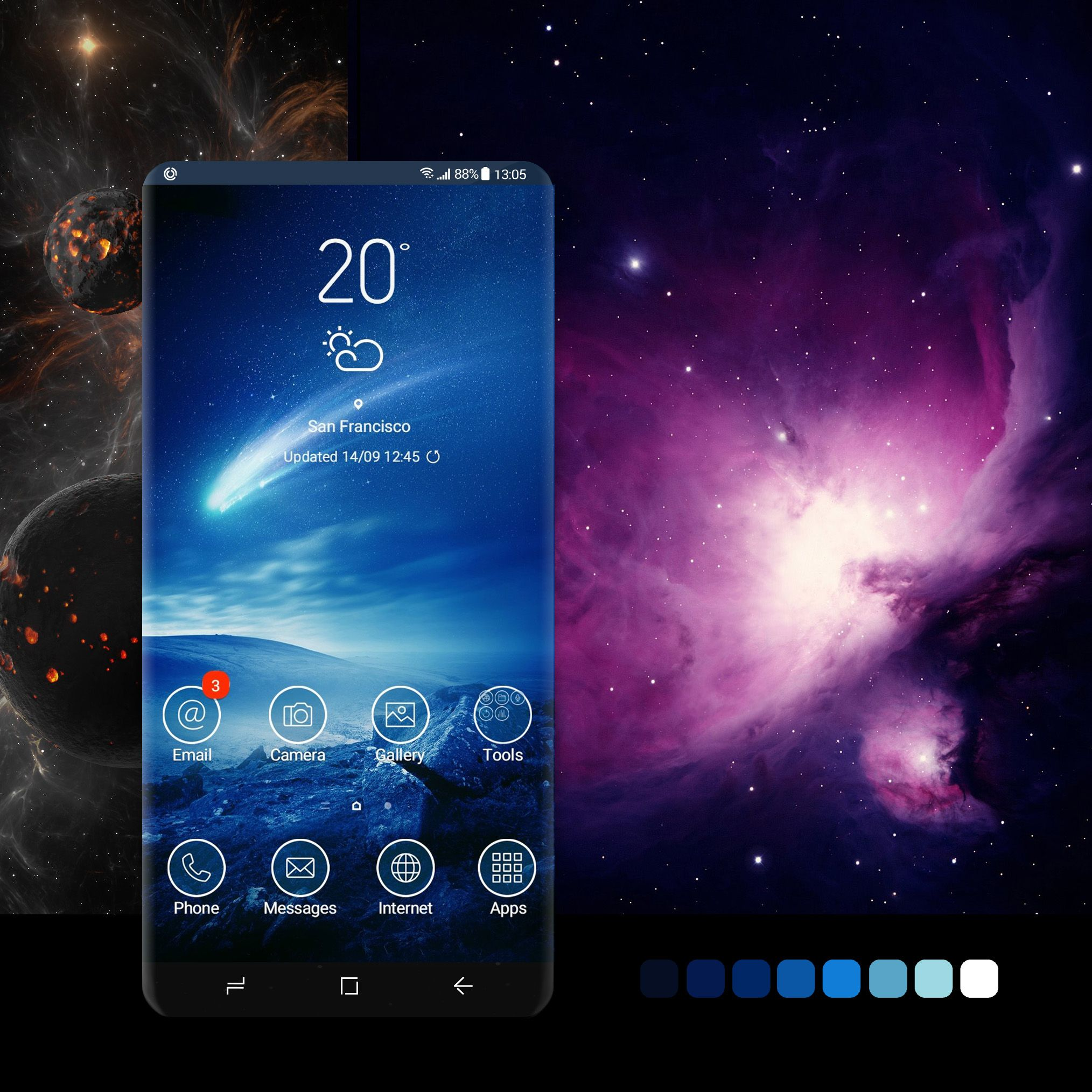 Shooting Star theme #wallpaper, #android, #phone