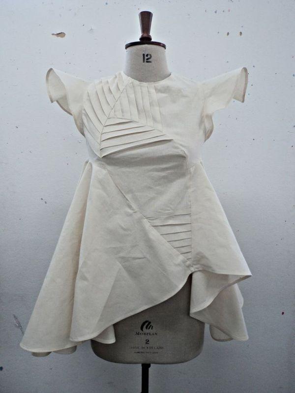 Fashion Design Development With Decorative Pleats And