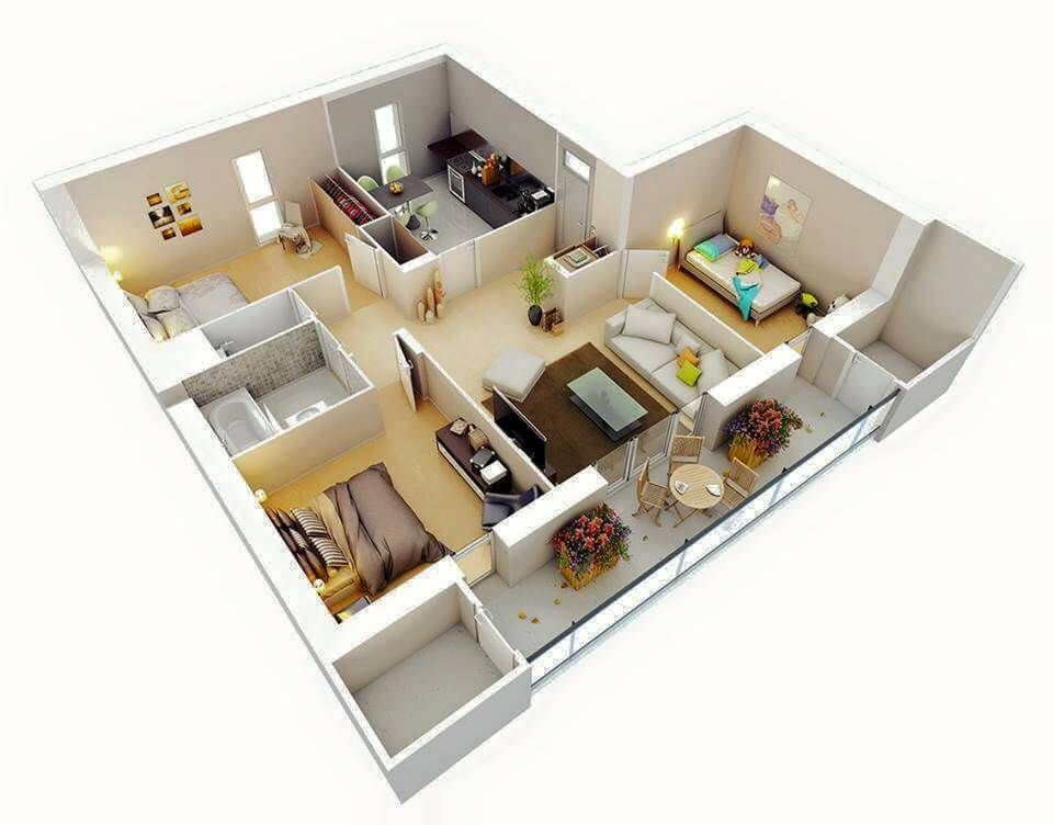 Amazing Top 50 House 3d Floor Plans Engineering Discoveries Small House Plans Apartment Floor Plans House Floor Plans