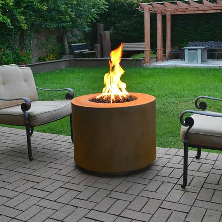 Concord Round Gas Fire Pit 30 Woodlanddirect Com Outdoor