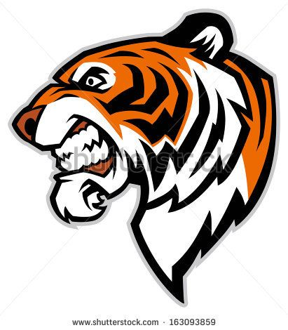 Tiger Head Line Drawing Tiger face clip art | Mountain ...