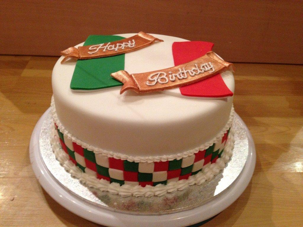 Italian birthday cake italian flag birthday cake shell1506