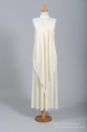 1970 Knit Handkerchief Vintage Wedding Gown
