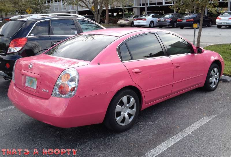 I wouldn't choose pink but still a very cute pink Nissan ...