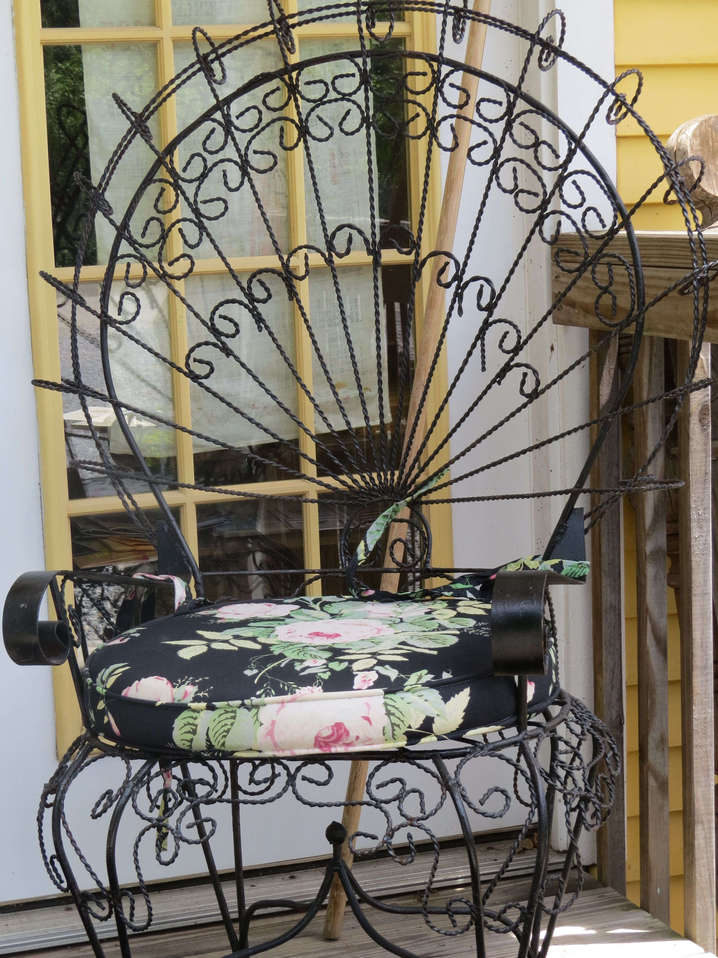 Victorian Metal Peacock Chair In